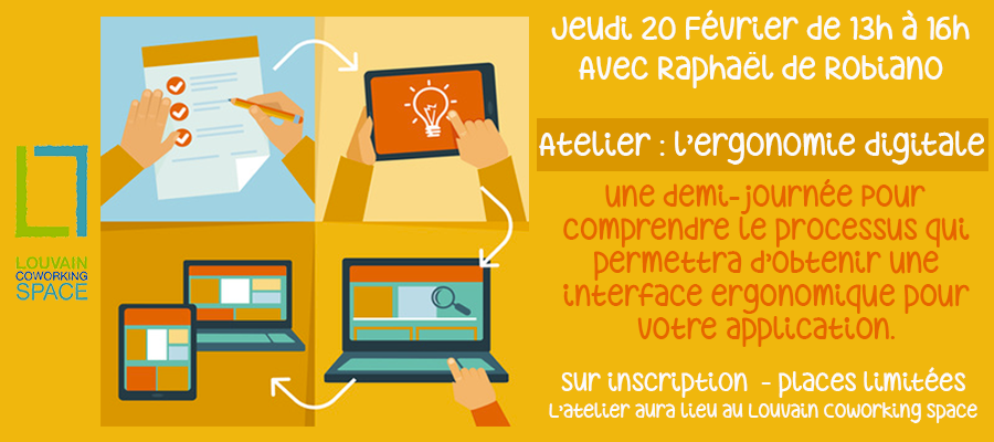 Workshop – l'ergonomie digitale avec Raphael de Robiano